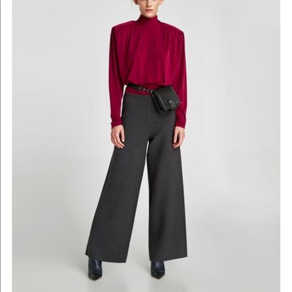 edcee2e7 Zara Pants | Palazzo Knit Trousers | Poshmark